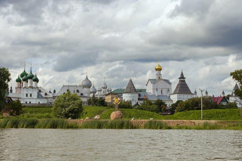 Rostov Kremlin na jeziornym Nero obraz stock