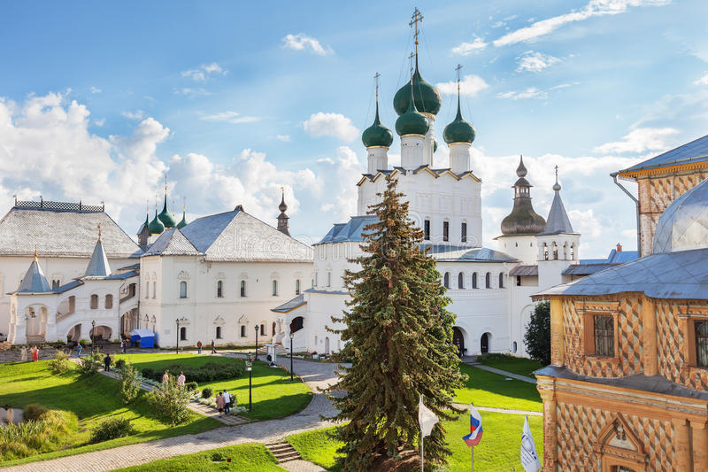 Rostov Kremlin, Russia. ROSTOV, RUSSIA – SEPTEMBER 03, 2016: Rostov Kremlin. Rostov is one of the oldest town in the Russia and tourist center of the Golden stock photos