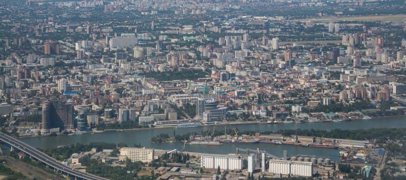 Rostov op Don, grote Russische stad stock afbeeldingen