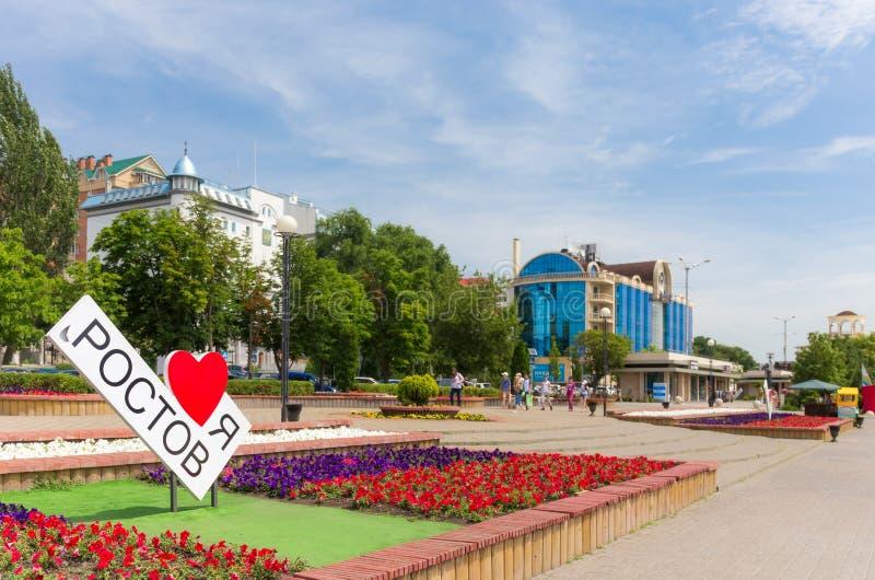 Rostov-op-trek aan stock afbeelding