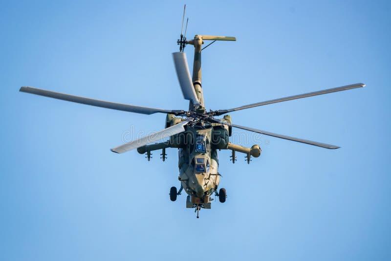 ROSTOV-OP-TREK AAN, RUSLAND - AUGUSTUS, 2017: Mi-28 verwoesting royalty-vrije stock foto