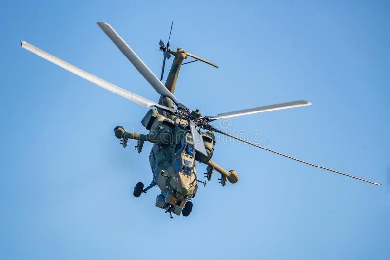 ROSTOV-OP-TREK AAN, RUSLAND - AUGUSTUS, 2017: Mi-28 verwoesting royalty-vrije stock afbeeldingen