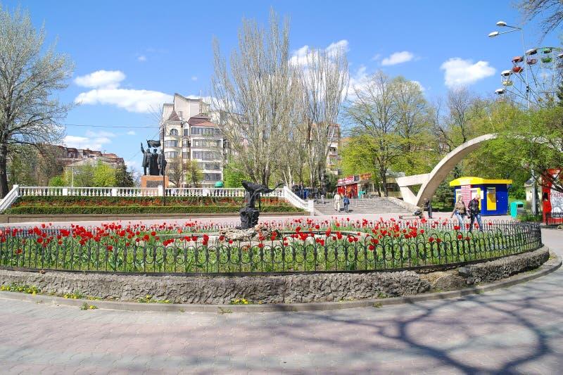 Rostov-op-trek, het Park van Gorky aan stock foto's