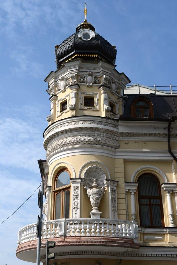 Rostov- op-trekt - de grootste stad in het zuiden van de Russische Federatie, het administratieve centrum van Rostov Oblast aan B royalty-vrije stock fotografie