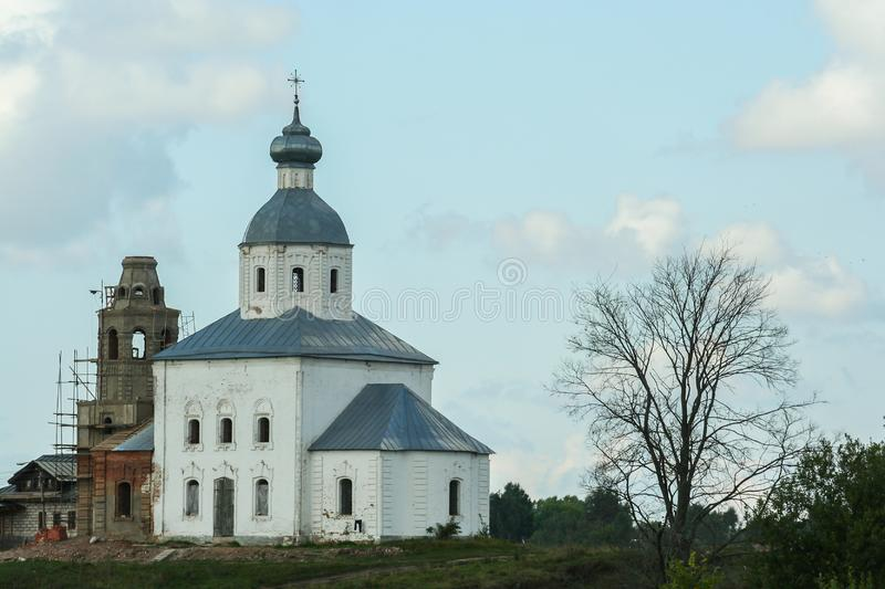 Beautiful old churches of Rostov. Religious architecture of Russia. 2009.08.08, Rostov, Russia. Beautiful old churches of Rostov. Religious architecture of royalty free stock images