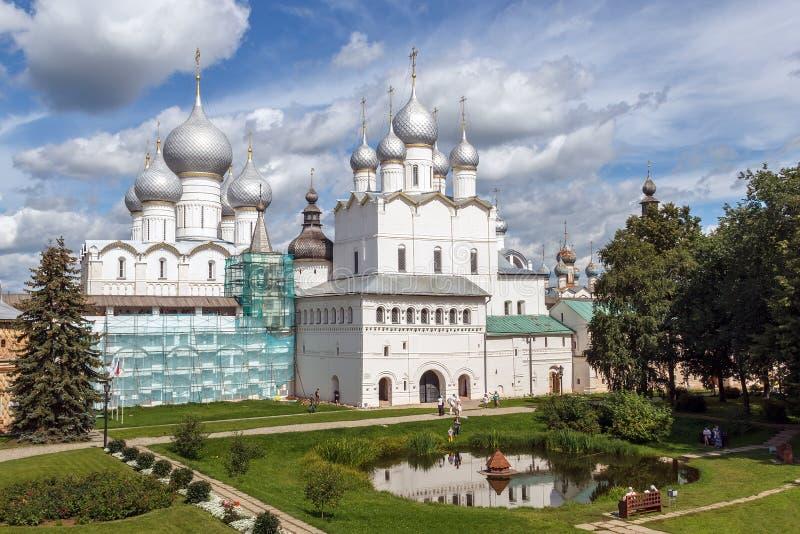 Rostov Veliky. In the courtyard of the Rostov Kremlin royalty free stock images