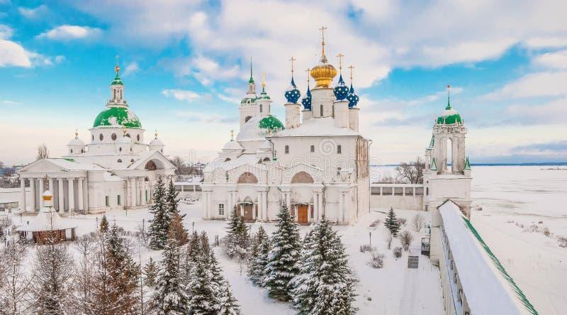 Rostov Veliky en invierno imagenes de archivo