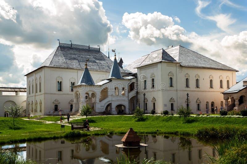 Rostov Veliky. Red house in the Rostov kremlin royalty free stock images