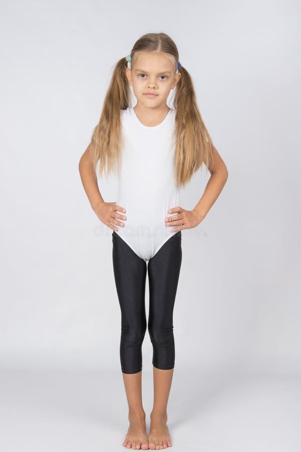 Rostova portret dziewczyny sześcioletnie gimnastyczki zdjęcia stock