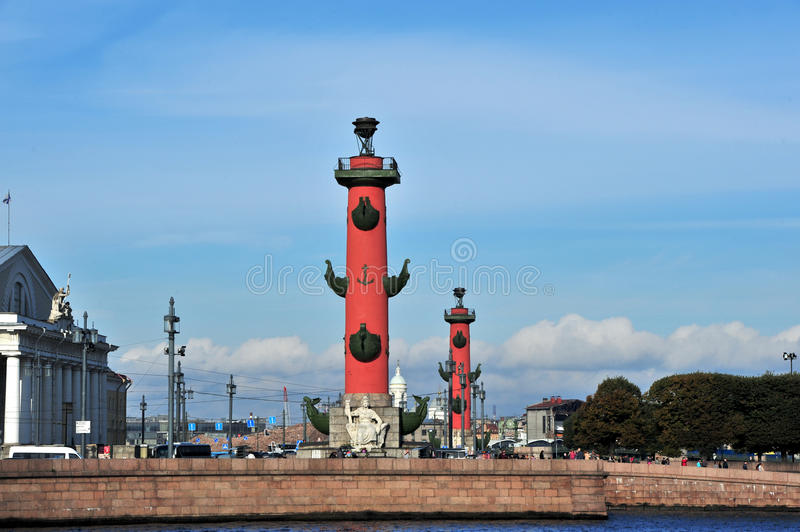 Rostral Column,Saint Petersburg,Russia stock photography