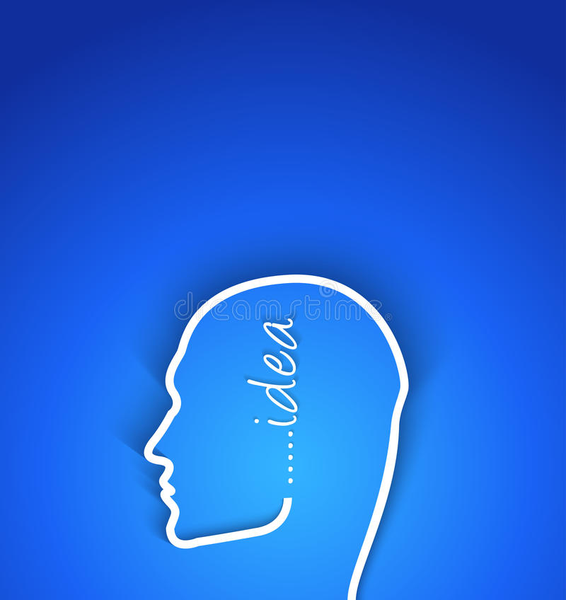 Rostro humano del papel de concepto de la idea con efecto de sombra ilustración del vector