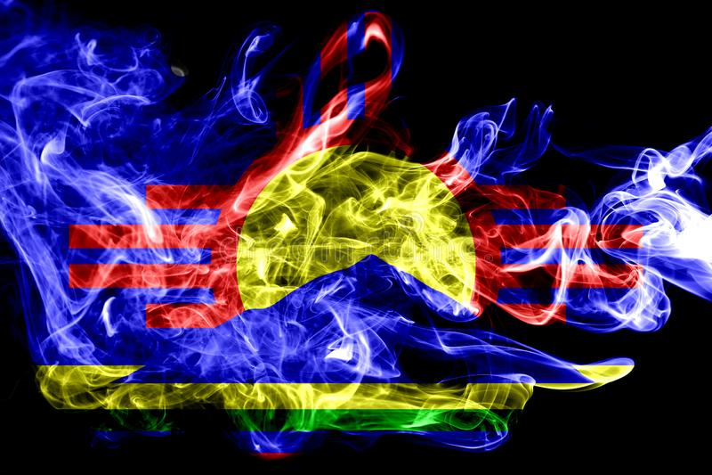 Roswell miasta dymu flaga, Nowa - Mexico stan, Stany Zjednoczone Amer obraz stock