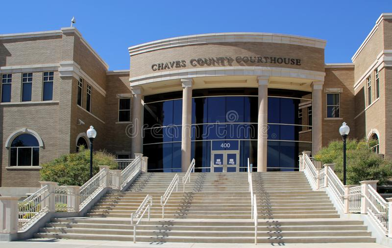 The Chaves County Courthouse. ROSWELL, NEW MEXICO - OCTOBER 06: The Chaves County Courthouse 2013 royalty free stock photo