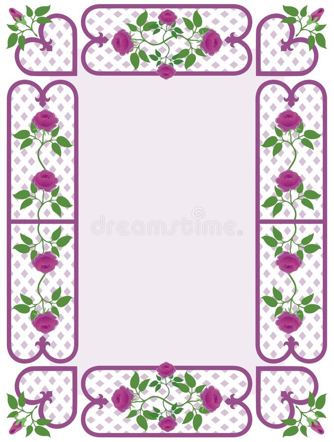 Rosy Border de charme illustration de vecteur
