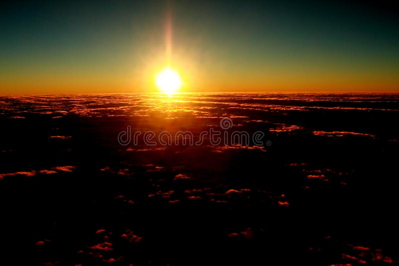 Rosy clouds of dawn1 stock image