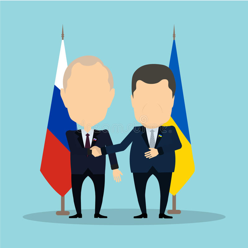 Rosyjscy i ukraińscy politycy royalty ilustracja