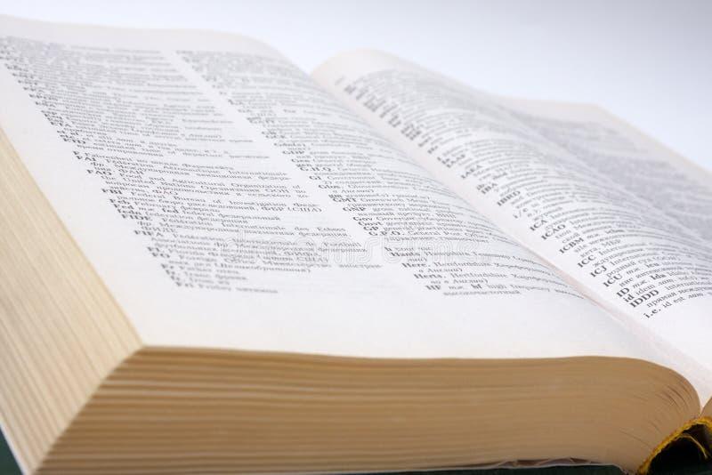 rosyjscy słowników anglicy fotografia royalty free