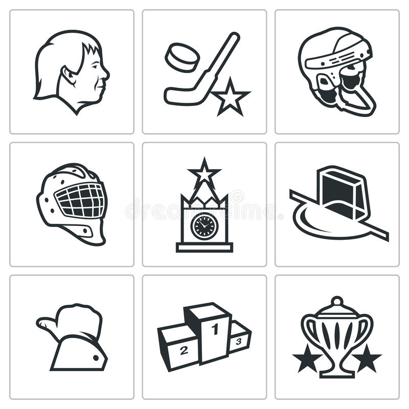 Rosyjska hokejowa ikona również zwrócić corel ilustracji wektora ilustracji