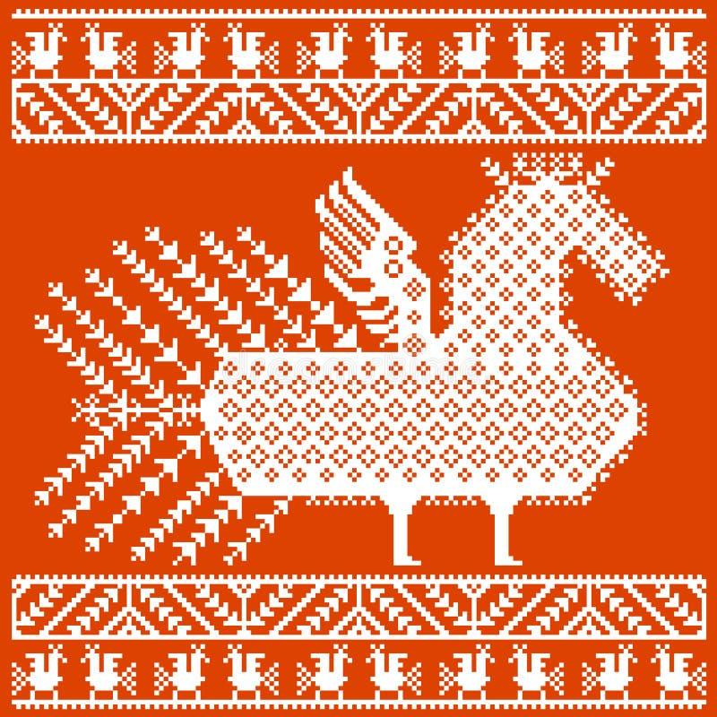 Rosyjska i ukraińska ludowa broderia, wzory również zwrócić corel ilustracji wektora ilustracja wektor