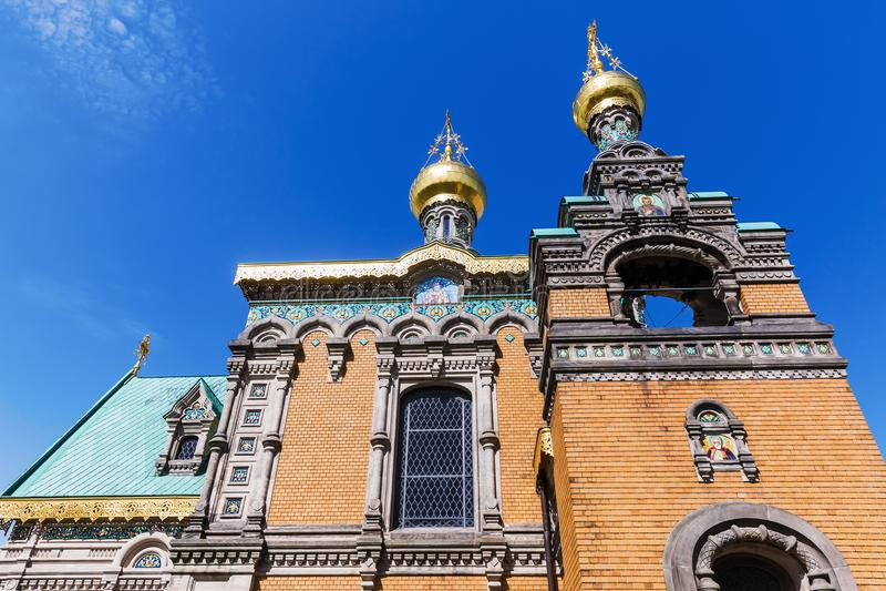 Rosyjska kaplica w Darmstadt, Niemcy zdjęcia stock