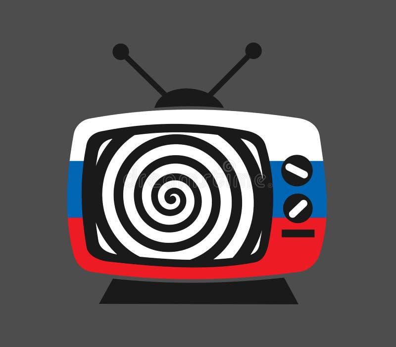 Rosyjska manipulacja, dezinformacja, sfałszowana wiadomość i propaganda, royalty ilustracja