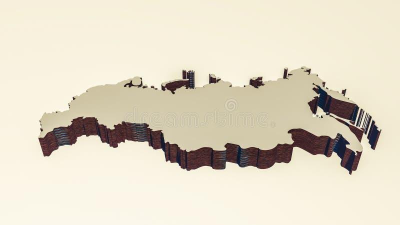 Rosyjska mapa obrazy stock