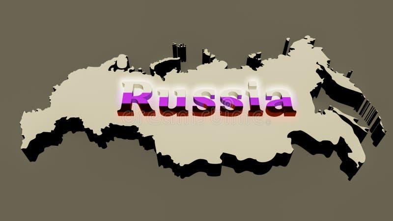 Rosyjska mapa zdjęcie royalty free
