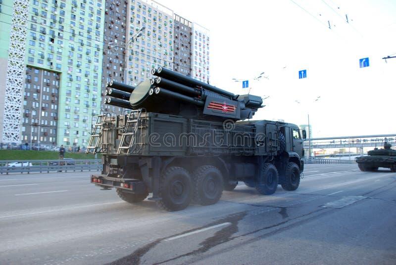 Rosyjska samojezdna ziemia-powietrze pociska Armour-C1 rakieta i pistoletu system fotografia royalty free