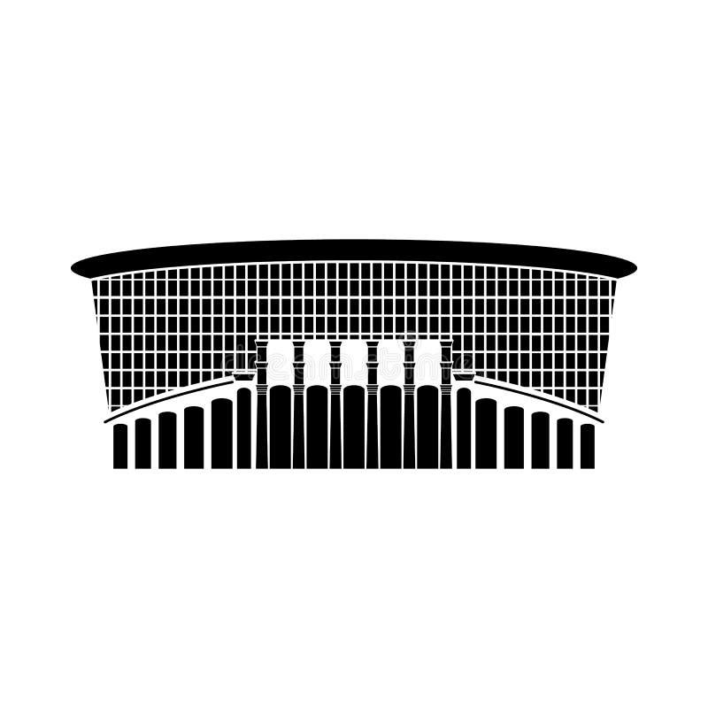 Rosyjska stadium znaka ikona, wektorowa ilustracja Logo round arena, royalty ilustracja