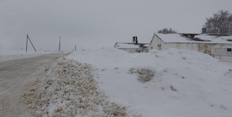 Rosyjska wieś w zimie obraz stock
