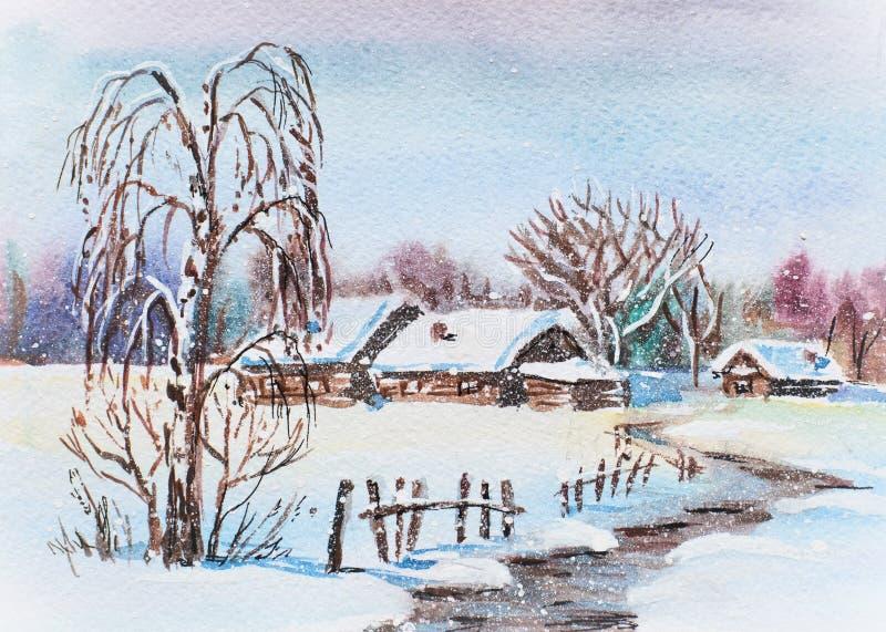 Rosyjska zima ilustracja wektor