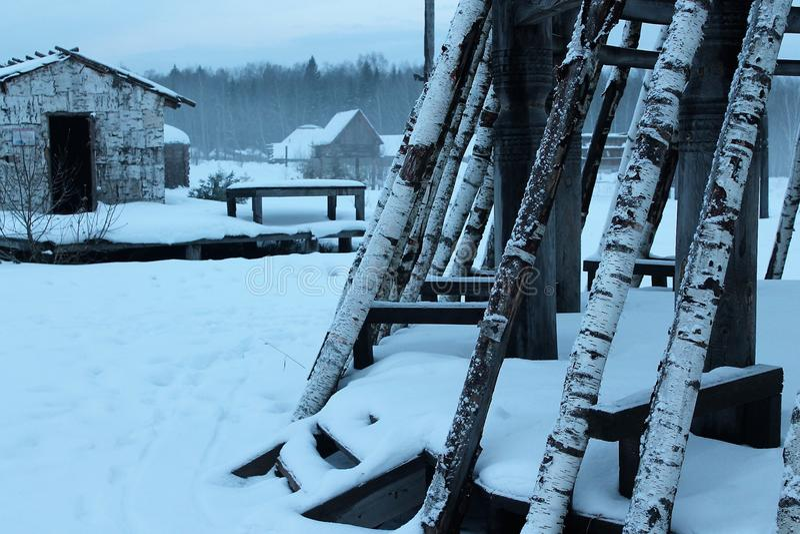 Rosyjska zimy północ mróz zdjęcia stock