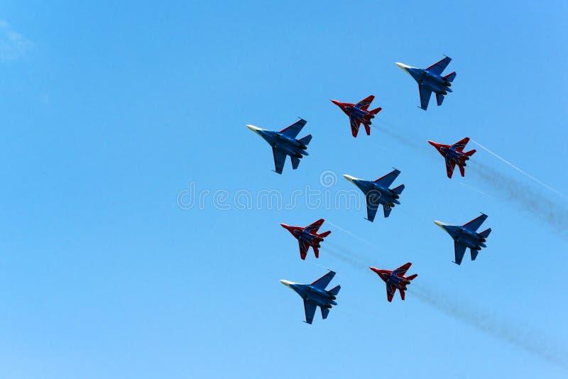 Rosyjski airshow obrazy royalty free
