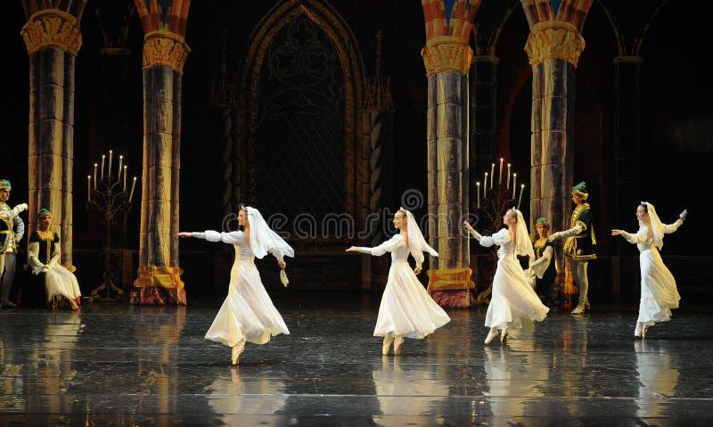 Rosyjski biel koronki sukni książe prętowego mitzvah baleta Łabędź trzeci jezioro fotografia royalty free