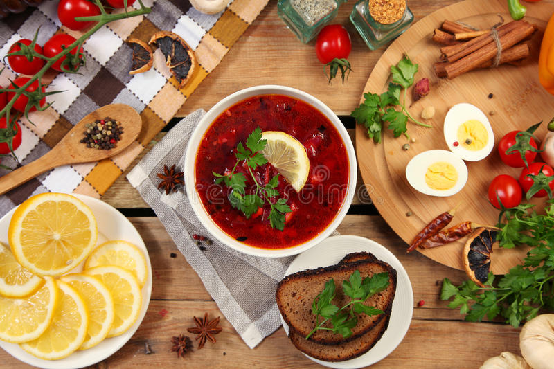 Rosyjski borscht fotografia stock