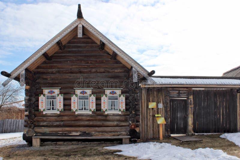 Rosyjski domostwo xviii wiek chłop Niski Sinyachikha Ural obrazy royalty free