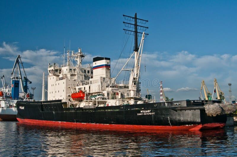 Rosyjski icebreaker w świętym Petersburg zdjęcia stock