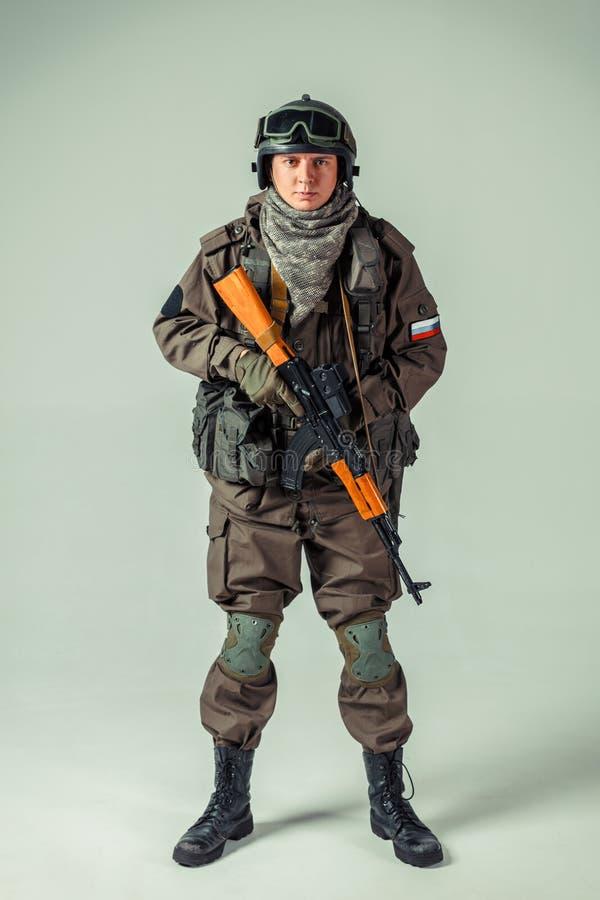 Rosyjski jednostka specjalna żołnierz fotografia royalty free