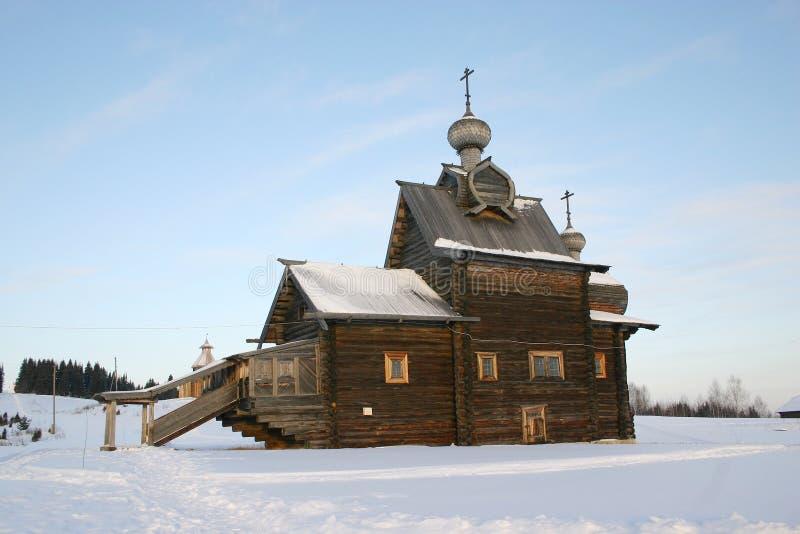 Download Rosyjski Katedralny Drewniane Obraz Stock - Obraz: 443335