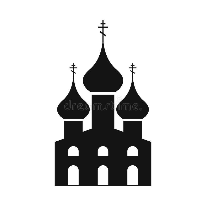 Rosyjski Kościół Prawosławny prosta ikona ilustracja wektor