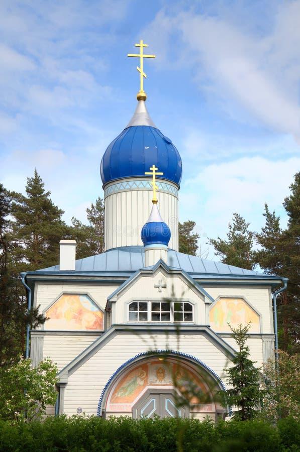 Rosyjski Kościół Prawosławny St. John baptysta w Nomme. Tallinn obraz royalty free