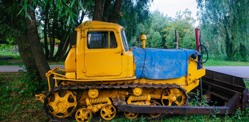 Rosyjski kraj ojczysty - Antyczny Ciągnikowy Ufa, Bashkiria zdjęcie royalty free