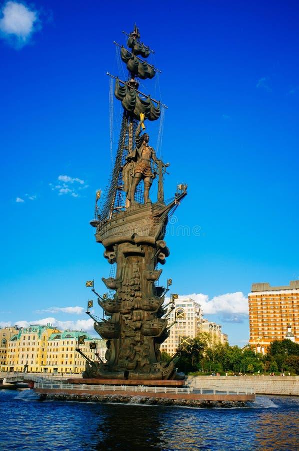 Rosyjski kraj ojczysty - Peter Wielki zabytek, Moskwa zdjęcia royalty free
