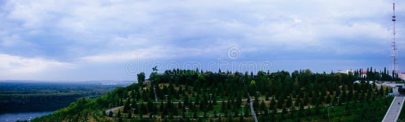Rosyjski kraj ojczysty - Salawat Yulayev parka panorama fotografia stock