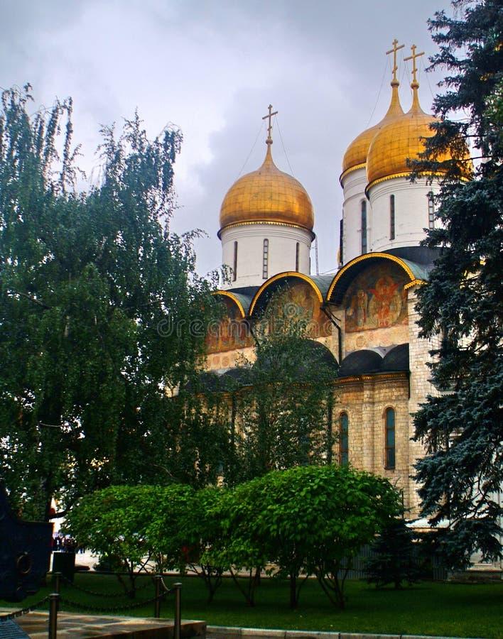 Rosyjski Kremlin jinding kościół zdjęcie royalty free