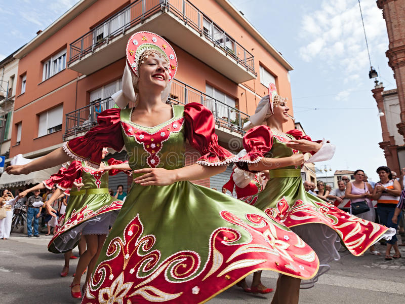 Rosyjski ludowy taniec fotografia royalty free