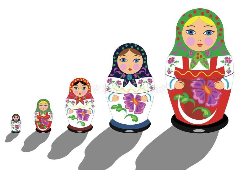 Download Rosyjski matrioshka ilustracja wektor. Obraz złożonej z ozdobny - 28498445