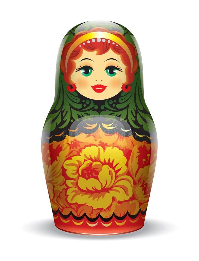 Rosyjski matrioshka ilustracji