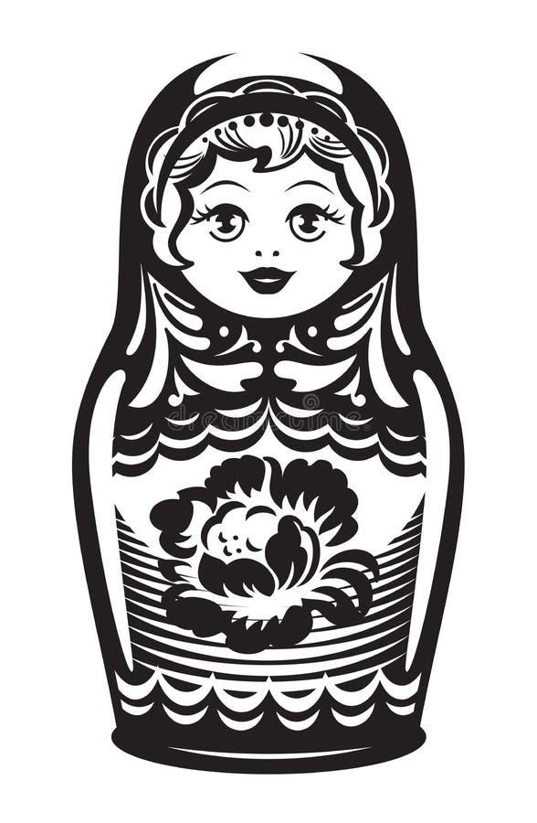 Rosyjski matrioshka. Ilustracja. ilustracji