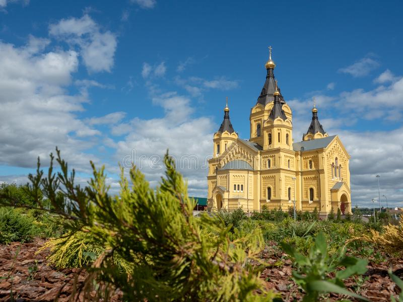 Rosyjski orthodoxal kościół w Nizhniy Novgorod obrazy stock